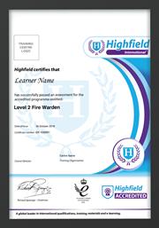 Highfield Accredited Certificate